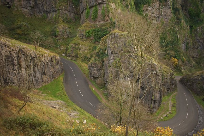 Road Curve High Angle View Winding Road Nature Outdoors No People Mountain Mountain Road Day Tree Cheddar Gorge Somerset England EyeEm Best Shots
