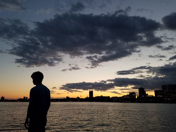 Boston Charles River Esplanade Silouette & Sky Sunset_collection