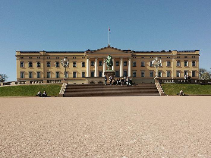Royal palace against clear sky