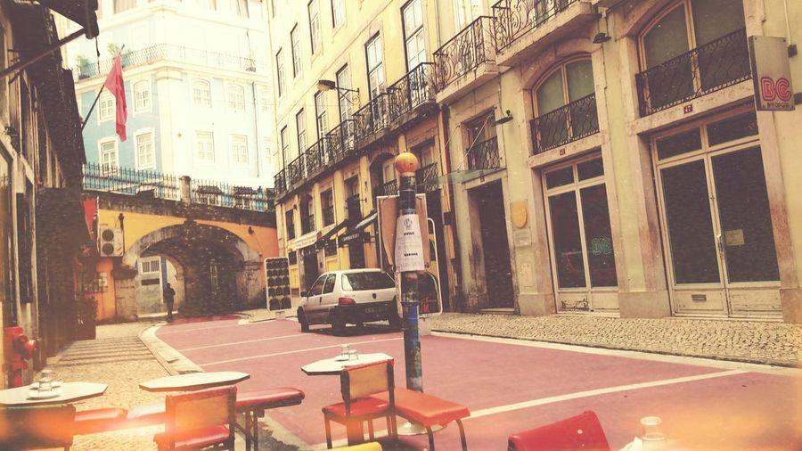 Old street in lisbon