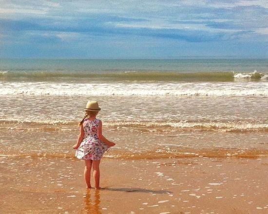 Beauty In Nature Children's Portraits Beachlovers Sealover  Summerdress Delightful