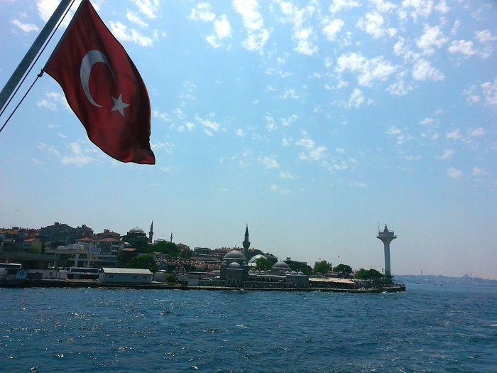 Hello World Hi! Sea Flags şanlıtürkbayrağı Boat üsküdarvapuru Uskudar Ahmetokumuşphotography First Eyeem Photo