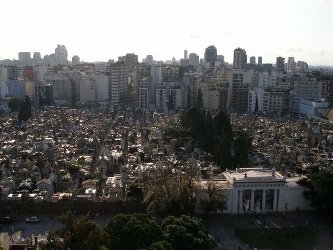 Recoleta Cemetery Buenos Aires Argentina View From Above Travel City Skyline