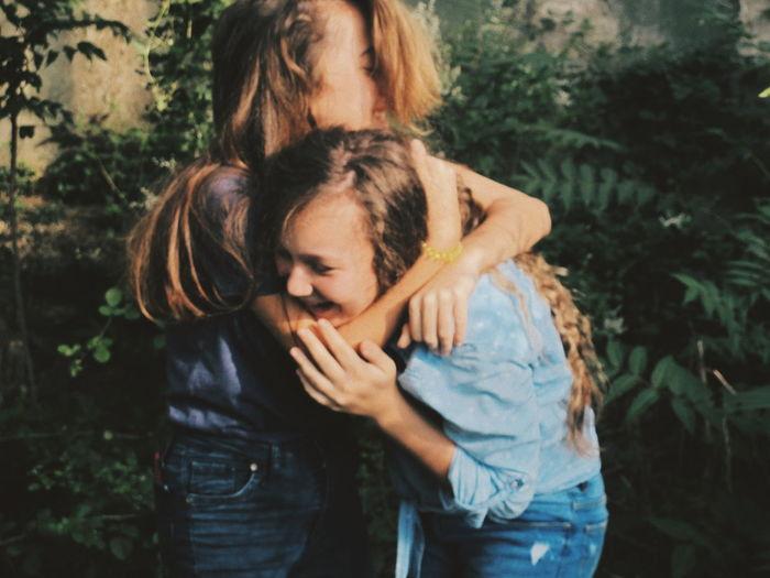 EyeEm Of The Week Friendship Friend Friends Bestfriend Bff Child Water Human Hand Blond Hair Tree Women Females Girls Childhood Mother