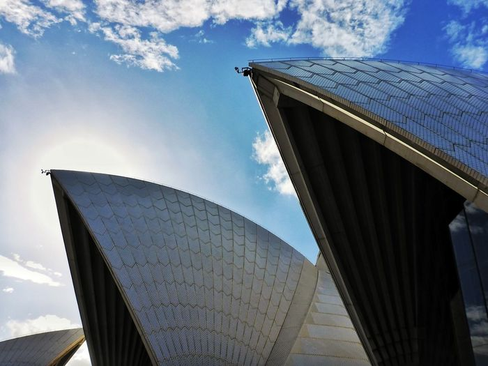 Architecture Built Structure Travel Destinations Sky Low Angle View Cloud - Sky No People Day Modern Outdoors Building Exterior Sydney, Australia Sydney Opera House