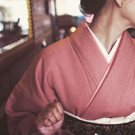 Kimono Japanese  Pink Portrait