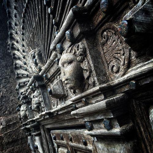 #Door #gothic #wood Carvings