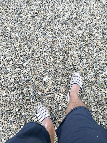Human Leg Standing Shoe Human Body Part High Angle View Texture Texture In Nature Stones Ground Soil EyeEmNewHere