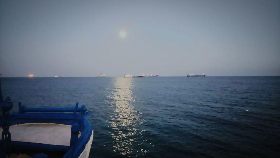 Colour Of Life Sea View Blue Sea Ship Night Photography Night Sea Night Seascape Cyprus Limassol