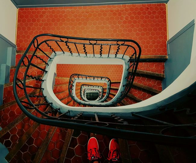 Spiral in Marseille Aerial View Architecture Built Structure Colors Design Indoors  Infinity Perfect Railing Spiral Staircase Stairs Steps Steps And Staircases The Architect - 2017 EyeEm Awards