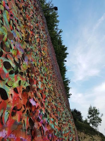 Tree Multi Colored Sky Cloud - Sky Day Outdoors No People Close-up Artistic Wall Texture Art Wall Art Colorful Art Installation Open Air Art Langhe Piedmont Italy Travel Destinations