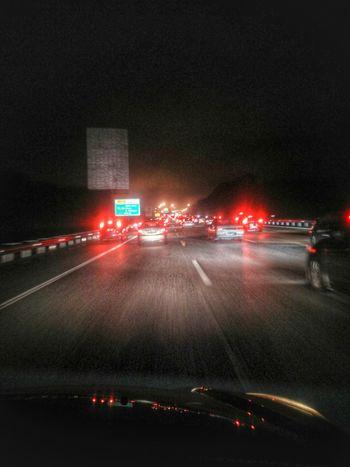 Traffic Jam Highways&Freeways Brake Lights Cars