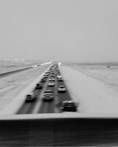 Negative Space Traffic Winter