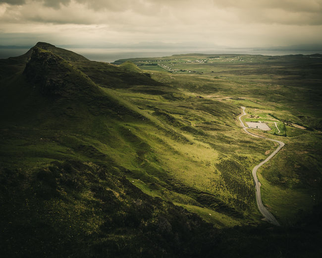the lowlands. Adventure Autumn Cloud - Sky Cloudy Coast Cultures Dark Day Fall Freedom Great Britain Green Grey Hiking Hills And Valleys Isle Of Skye Landscape Mountain Nature No People Outdoors Quiaraing Scotland Spring Summer