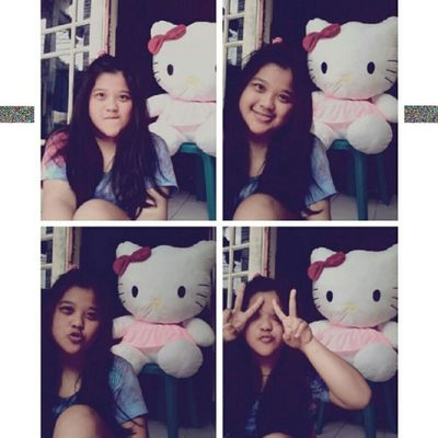 (3) The most big HK from my brother <3 Me Selca Takeaselca With Pink HK doll mine cute loveit nice random tshirt 4pages instapict instacool tagsforlove likeme flwme