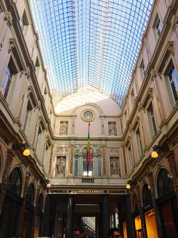 Galerie De La Reine Low Angle View Architecture Built Structure No People Day Indoors  Sky Belgium Brussels Old The Architect - 2017 EyeEm Awards The Architect