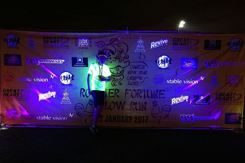 ROOSTER FORTUNE GLOW RUN 2017 2ndRunIn2017 Up And Down 5KM Fighting💪 Moment With You Glowinthedark Nightlife Original Pure Beauty Eyeem Photo