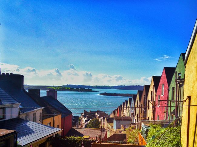TakeoverContrast Water Sea Blue House Sky Outdoors Day Scenics No People Beauty In Nature Travel Cork Cobh Oneplusphotograpgy Oneplus2 Onepluslife Oneplustwo Queenstown