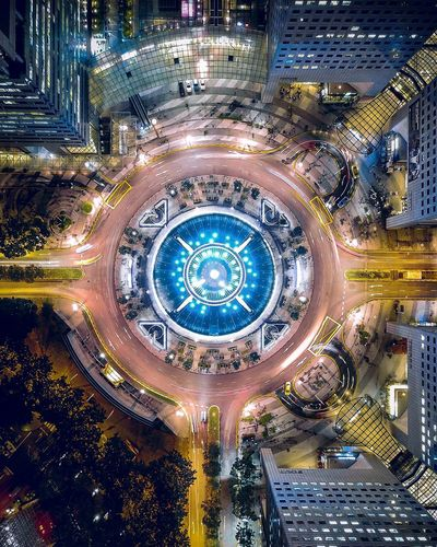 Arc Reactor DJI Mavic Pro Dji Droneshot Dronephotography Drone  Aerial View Singapore Architecture Illuminated Aerial View City High Angle View Built Structure Road Cityscape Night Modern No People Building Exterior Travel Destinations Futuristic Outdoors The Graphic City Mobility In Mega Cities The Architect - 2018 EyeEm Awards