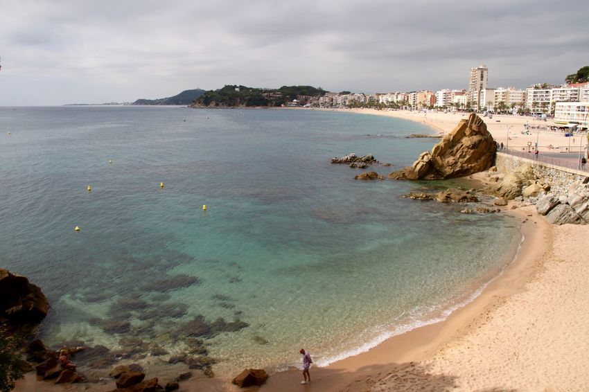 Beach Beauty In Nature City Coastline Horizon Over Water Lloret De Mar Lloret De Mar Beach Lloretdemar Nature No People Sand Scenics Sea SPAIN Travel Destinations Vacations Water Flying High