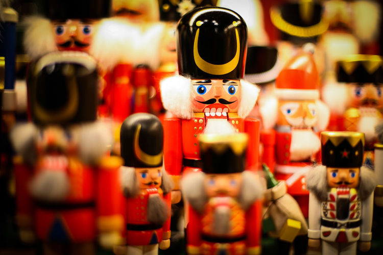 Nutcracker Choice Close-up Collection Day Doll Figurine  For Sale Human Representation Indoors  Large Group Of Objects Market Market Stall No People Retail  Sculpture Selective Focus Souvenir Store Toy Variation