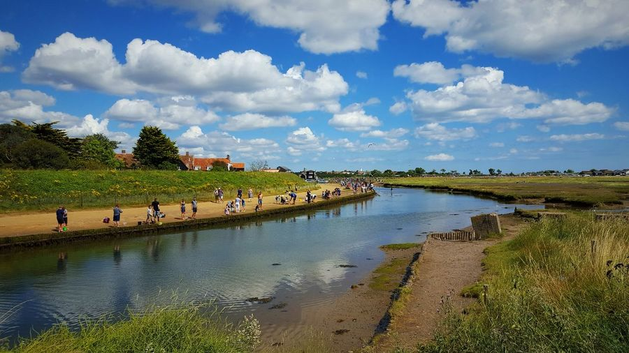 Walberswick Water Sky Tranquil Scene Tranquility Cloud Grass Tree Cloud - Sky Day Scenics Nature Beauty In Nature Waterfront Canal Summer Outdoors Green Color Tourism Non-urban Scene