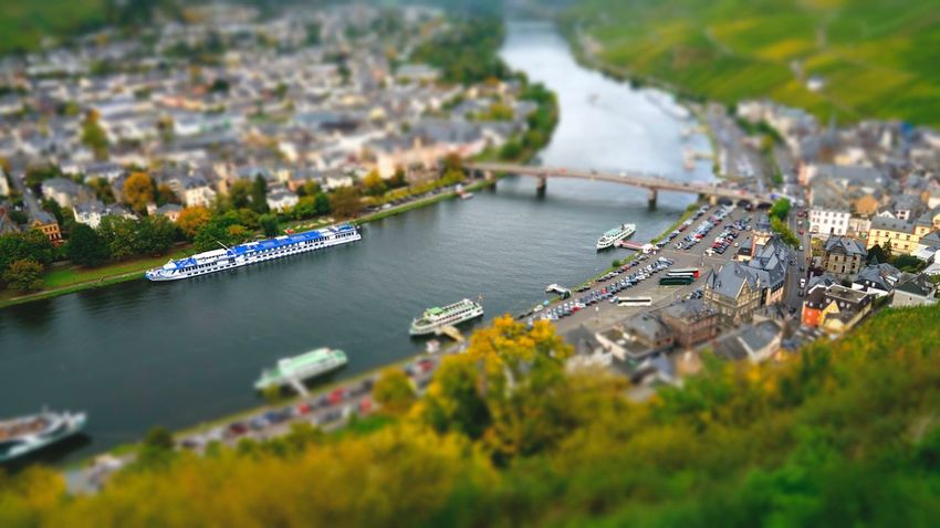 Bernkastel-Kues Architecture Water High Angle View Built Structure Tilt-shift Building Exterior Day Transportation River Outdoors City Town No People Nature Nautical Vessel Cityscape