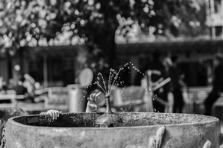 Berlin Kinderhand Prater Architecture Biergarten Brunnen Built Structure Creativity Day Flowing Water Focus On Foreground Hand Sculpture Selective Focus Water