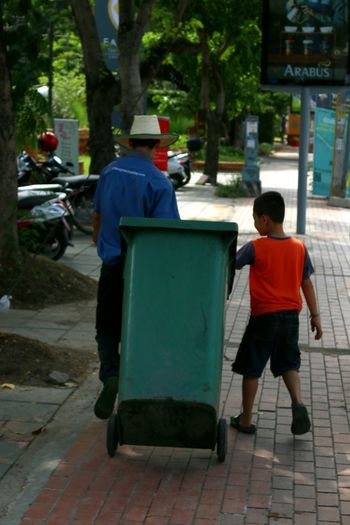 Father-son. Chiang Mai Thailand เชียงใหม่ ไทยแลนด์