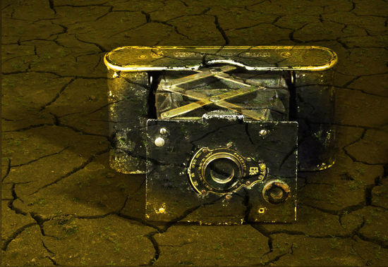 Old vintage camera Ancient Camera Ruins Synthesis Antique Camera Architecture Close-up Day Image Processing Indoors  No People Nostalgia Old Camera Outdated Ruins_photography Technology Textured