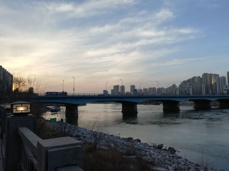 Lanzhou Dusk In The City