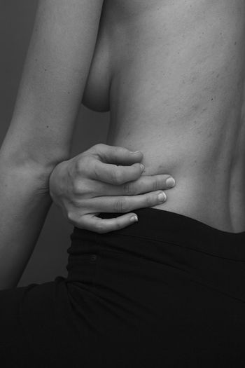 Midsection Hand Human Hand Human Body Part Women Indoors  People Adult Skin Human Skin Real People Close-up Body Part Togetherness Lifestyles Couple - Relationship Rear View Two People Finger Black Background Portrait Blackandwhite Black And White My Best Photo