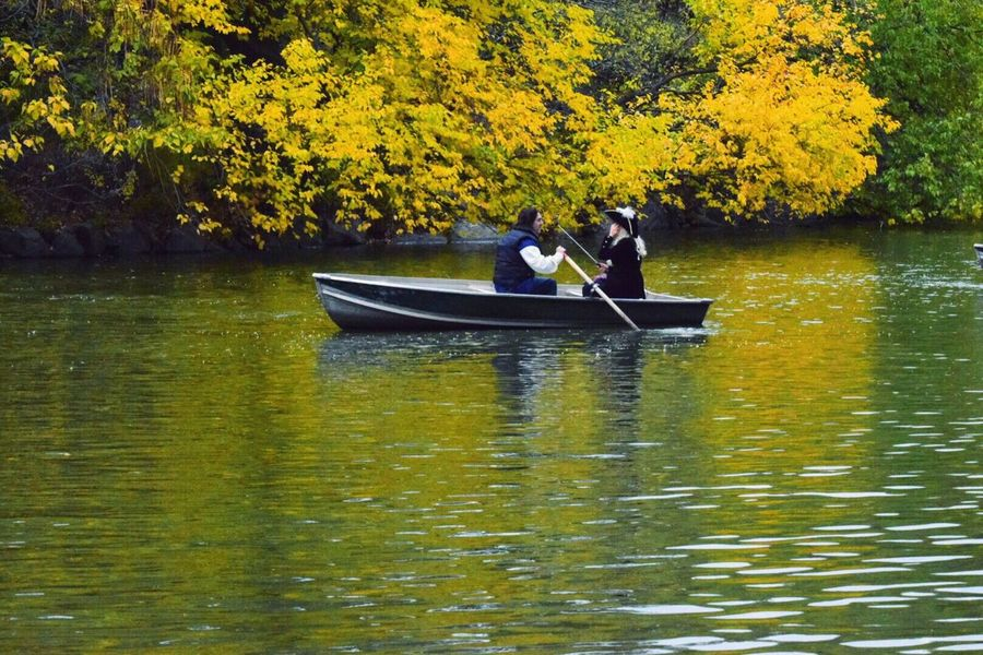 Water Boat Lake Tree Waterfront Tranquility Reflection Calm Nature Tranquil Scene Boating People Transportation Beauty In Nature Person Lake View Lakeview Central Park CentralPark Central Park - NYC Fall Beauty Fall Colors Fall_collection Beauty Of Fall On A Boat