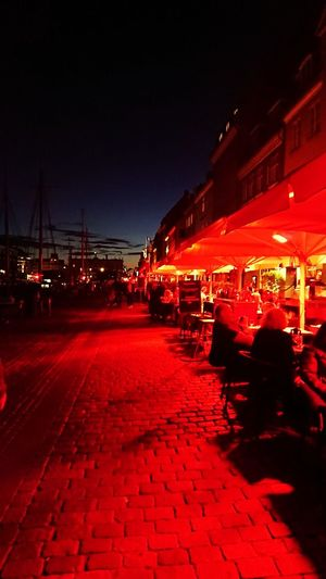 The red streets of Copenhagen!! XZs Photography Nature Photography Nature Sonyxperiaxzs Sony XPERIA Takenwithxperia Backpacking Traveldiaries City Cityscape Evening Light Copenhagen Illuminated City Nightlife Nightclub Red Sea Sky Waterfront Canal Calm