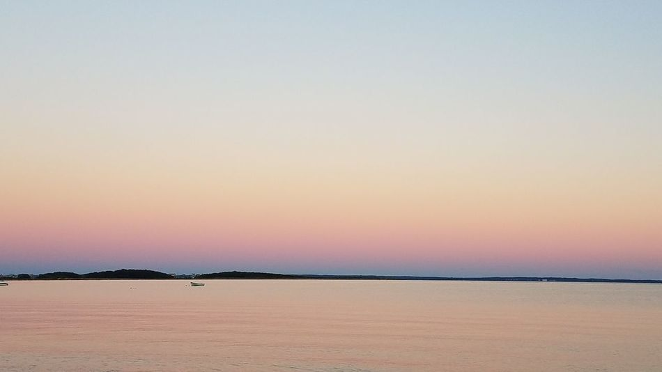 "The ""other side"" of the sunset Sunset Tranquil Scene Clear Sky Water Tranquility Calm Waterfront Neds Point Mattapoisett, Ma Beach Photography"