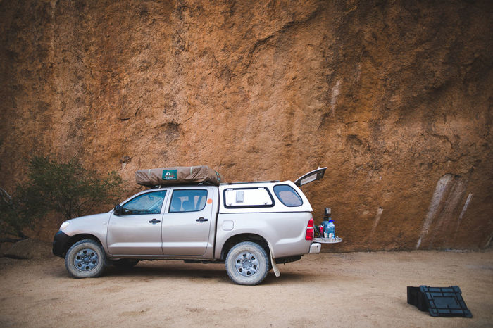 Camping Rock Car Day No People Outdoors Overland Overlanding Transportation Vanlife Wilderness