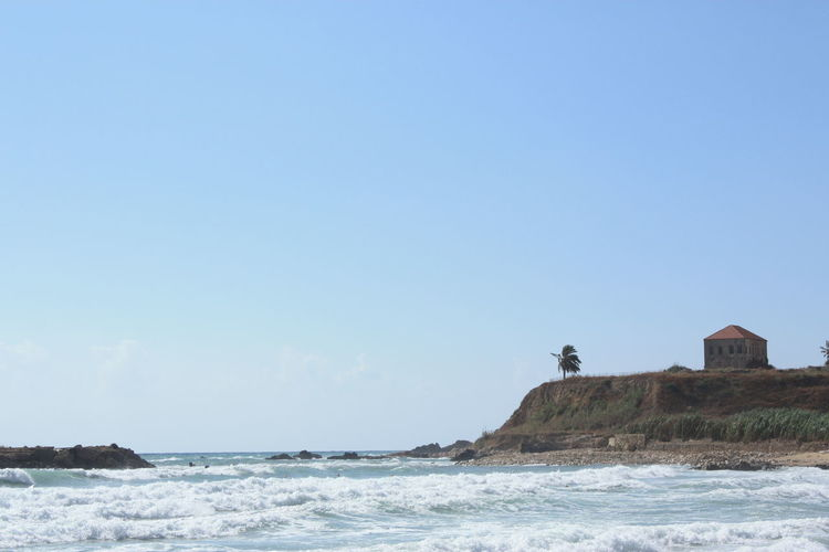 Marine natural scenery with clear sky