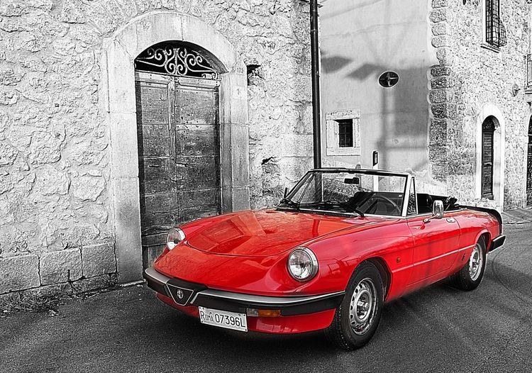 Alfa Romeo Spider Duetto Cars Color Splash Sport Cars Vintage Cars Red Red Passion Red Car Roadster Alfa Romeo Spider Meinautomoment