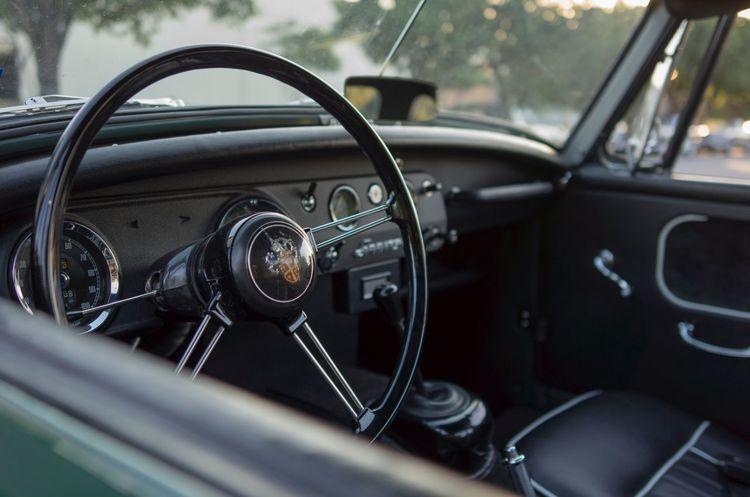 Vehicle Interior Car Interior Car Dashboard Transportation Windshield Vintage Car Steering Wheel Metal Windscreen Speedometer Old-fashioned Vehicle Part Austin Healey Classic Car