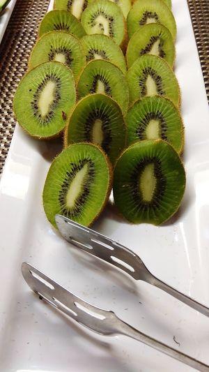 Cut kiwifruit