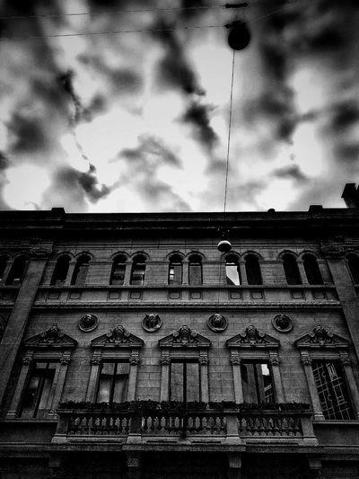 Via Santa Maria Fulcorina, Milano, Dicembre 2018 Low Angle View Blackandwhite Urban City Sky And Clouds Building Exterior Architecture Built Structure