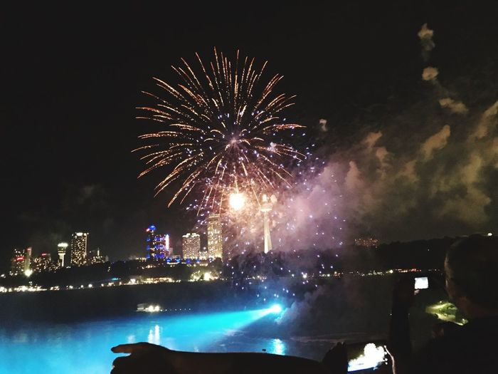 How beautiful in this summer. Summer2018collection Lovely Day NiagaraFallsCanada Illuminated Arts Culture And Entertainment Event Firework