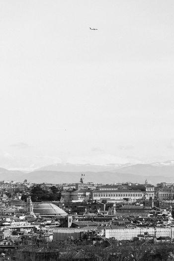 City against clear sky