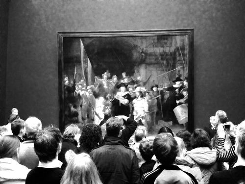 Crowd Group Of People Black & White Blackandwhite Photography Museum Amsterdam Art Painting Watchoutfordetails