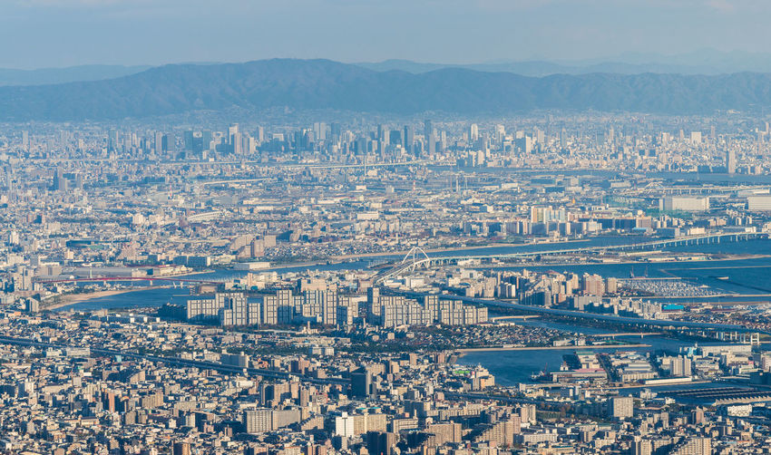 Kobe Cityscape,Aerial view from Mt. Maya Modern Road Aerial View Architecture Bridge Building Exterior Built Structure City Cityscape Day Infrastructure Kobe Mountain Range Nature No People Ocean Outdoors Sky Urban Urban Skyline