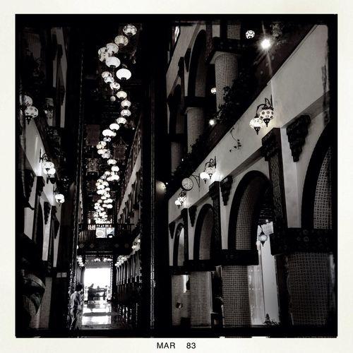 Snaking lights Vanishing Point BlacKeys B+W Film Hipstamatic Blackandwhite