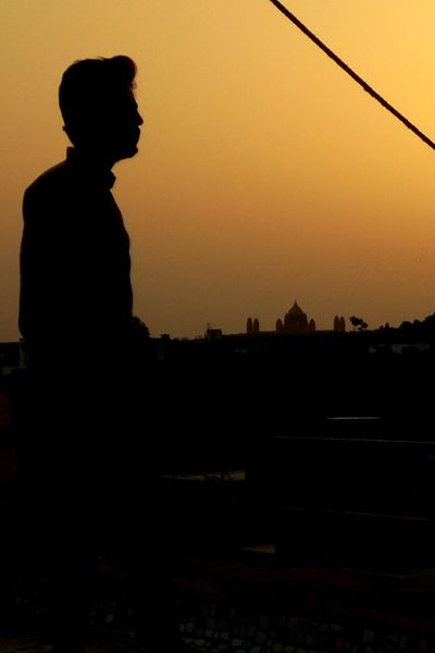 #umaidbhawan #palace #old #architecture #jodhpur Men Silhouette Standing City Side View Sky Spirituality Religion