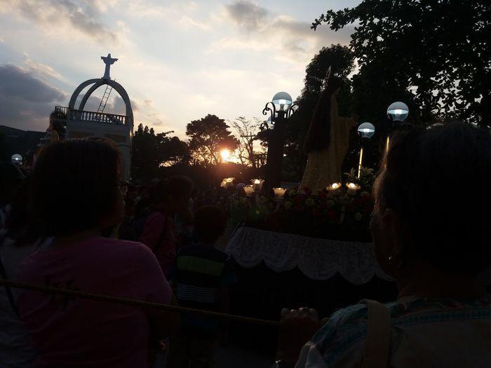 Lentenseason Sunset Procession Holywednesday