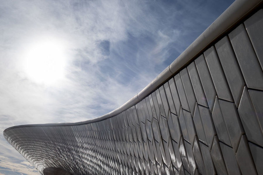 Amanda Levete Architecture Architecture_collection Lisbon Low Angle View Maat Museum Museum Of Art Architecture And Technology No People Outdoors Pattern Portugal Sky