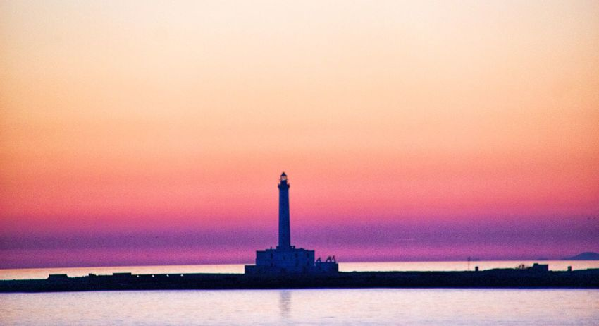 Architecture Beauty In Nature Building Exterior Built Structure Cloud - Sky Day Direction Grainy Horizon Over Water Lighthouse Nature Nautical Vessel No People Outdoors Scenics Sea Sky Sunset Tranquility Travel Travel Destinations Water Shades Of Winter